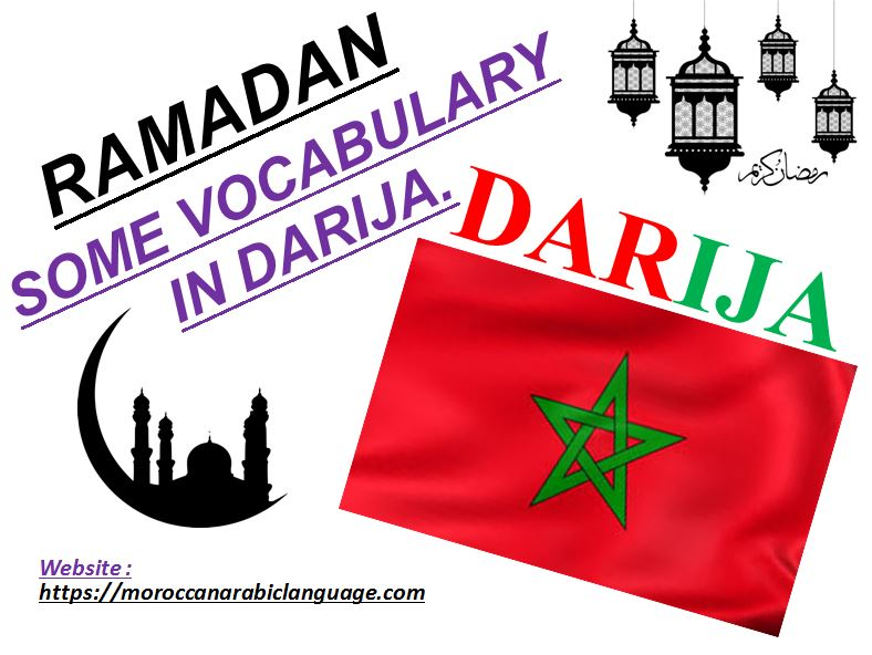 vocabulary and expressions in darija about ramadan with prononciation